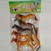 promotional plastic toy animal set for children