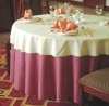 100% polyester plain visa hotel table cloth