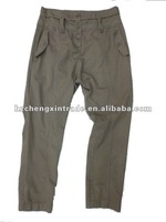 2012 Popular fashion design cotton blend twill style casual trousers / pants hot sale