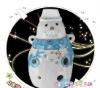 Snowman Chinese Ceramic Ocarina