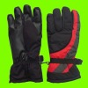 winter sports glove with leather for men