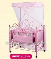 children pink metal bed
