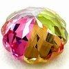 Colorful pumpkin zircon beads/fashion jewelry bead