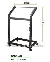 MX-4 - Professional Equipment Rack/9U DJ Stand, for mixer, CD, amp