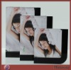 Pretty Rectangle Magnetic Counter Acrylic/Plexiglass Picture/Photo/Card Holder/Frame with Black Edge