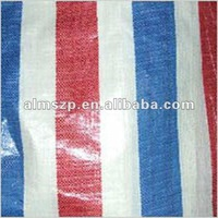 four color pe woven fabric with stripe