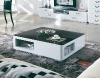 black and white hi-gloss lacquered coffee table home/office furniture (FOH1605 Coffee Table)