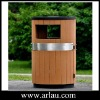 Outdoor Plastic Wood Trash Bin