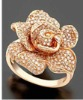 YCR1220 rose gold plated ring/brass ring