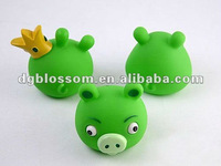Lovely pig soft pvc cartoon toy ,various of existing moulds
