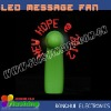 newest light up promotion gift flashing fan with custom message