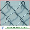 PVC Coated / Galvanized Chain Link Wire Mesh Fence