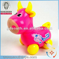 new arrival children plastic wind up cow toys