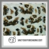 pritned artificial fur fabric