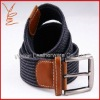 2012 blue fashion elastic stretch braided belt