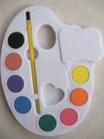 palette water color cake(eight -color water color cake, water color)