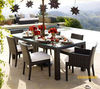 Best selling Viro/Rehau rattan dining table and chairs for patio/outdoor