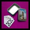 playing cards in tin box