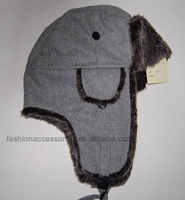 Warm winter trapper hat