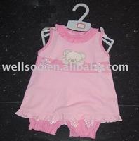 Girl's sleeveless baby sets