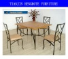 Modern wooden dining room table and chair