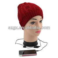 popular music beanie hat with MP3 player