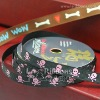 Skull Grosgrain Ribbon,Pet Ribbon,Bone Ribbon