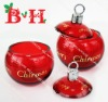 BH900601A  Xmas glass candle holder for LED tealight only