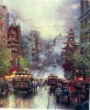 oil painting/pure hand made oil painting/canvas oil painting/Thomas Kinkade oil painting