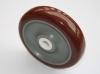 The red polyurethane wheels