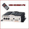 4 Channels Mini Amplifier with USB SD MMC Card FM RF98