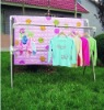 Extensible(height changeable) Quilt-Drying Rack with Hooks YJ-503
