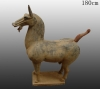 Pottery Terra-Cotta Horses ( pottery horse , antique imitation )