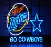 Go cowboys Miller lite neon sign