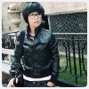 Womens leather jacket F66