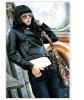 Fashion Ladies' Elegant Quality Leather Jacket F16
