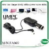 30W universal car laptop adapter with a power wires