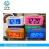 new style digital square alarm table clock with silicone case