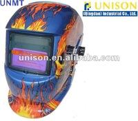 auto-darkening welding helmet skull