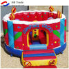 Colorful inflatable birthday cake bouncy house