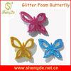 Glitter Foam Sticker in Butterfly Shape