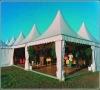 well decorated pagoda tent