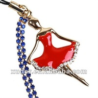 Red ballet dance girl Mobilephone Accessory,mobile phone strap/charm 5564