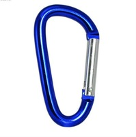 7cm Aluminum Alloy D Shape Locking Holder Carabiner Clip Water Bottle Holder Camping Snap Hook