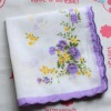 100% cotton ladies white lace handkerchiefs