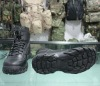 Black durable 6 inch high quality military rubber boots