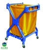 X-shape plastic hotel laundry cart