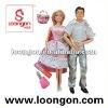 loongon plastic doll 11.5' doll set couple cute dolls