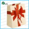 Red Ribbon with Gift Tag - Portrait Luxury Paper Gift Bags craft paper shopping bag paper high quality paper bag