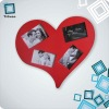 square photo frame wall clock